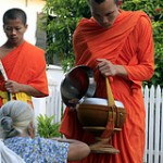 monk bowing