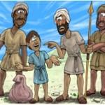 david and goliath cartoon